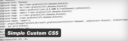Simple Custom CSS header