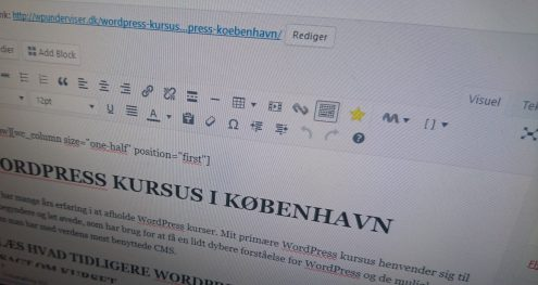 WordPress backend - WpUnderviser - WordPress-kursus 3