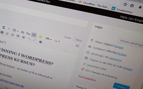 WordPress backend - WpUnderviser - WordPress-kursus 2
