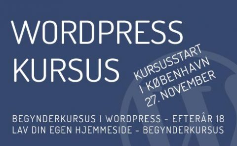 Hjemmeside i WordPress - Kursus i november 2018 - København