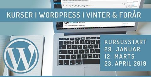 WordPress kurser i København og Lyngby 2019