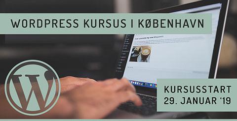 WordPress kursus i København januar 2019