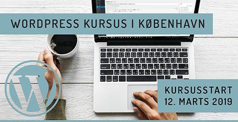 WordPress kursus i København - marts 2019
