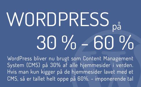 WordPress 30% af alle hjemmesider i verden